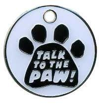 Pet Tags with Paw Print