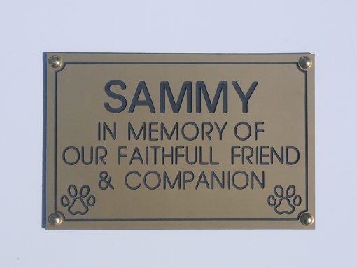 Pet Memorials Plaque Online
