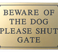 Beware of the Dog Signs UK
