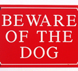 Beware of Dog Warning Signs