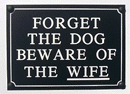 Small Beware of Dog Sign
