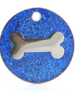Glitter Pet Tag Blue Color