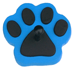 Blue Paw Print Pet Product