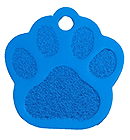 Blue paw Classic tags