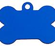 Blue Aluminium Bone Classic Tags