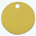 Brass disc Classic tags