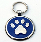 Large Blue Paw Print Pet Tag