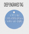 novelty tag ENGRAVE