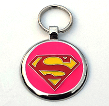 Large Pink Super Pet Tag