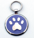 Designer Dog Tags Paw Printed