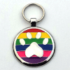 Designer Dog Tags rainbow Color