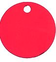 Red Aluminium disc Classic Tag