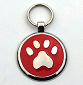 Designer Dog Tags Red Color