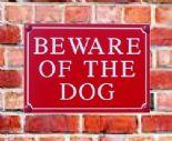 Beware of The Dog Signs